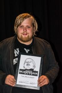Halvor henta sigeren og diplomet under Skjemtegauk 2014.